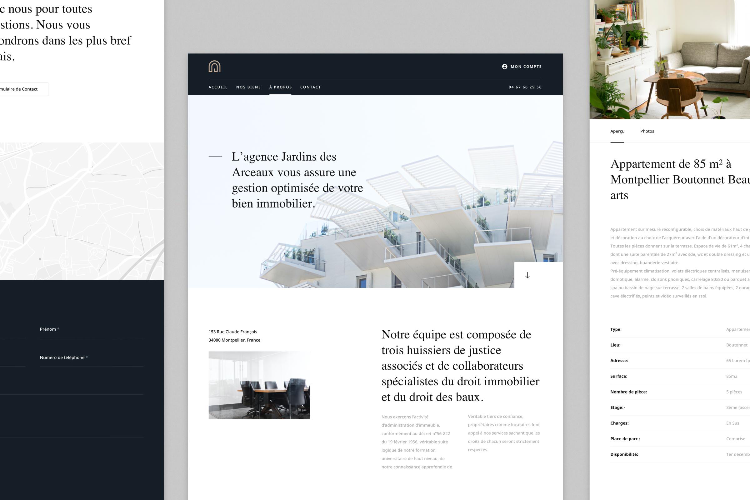 Jardins des Arceaux – Website & Identity